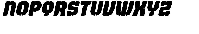 Judgement Black Stencil Italic Font UPPERCASE