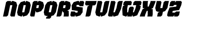 Judgement Black Stencil Italic Font LOWERCASE