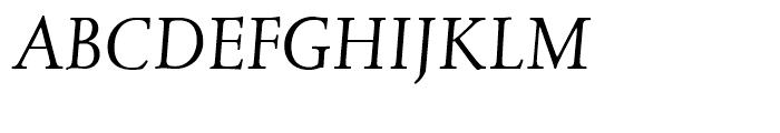 Juliana Text Italic Font UPPERCASE