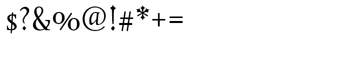 Juliana Text Roman Font OTHER CHARS