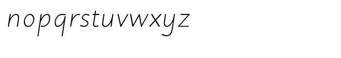 Julius Primary Light Italic Font LOWERCASE