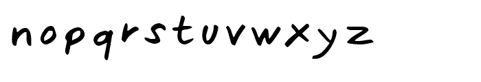 Jump Regular Font LOWERCASE