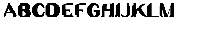Junk Regular Font UPPERCASE
