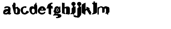 Junk Regular Font LOWERCASE
