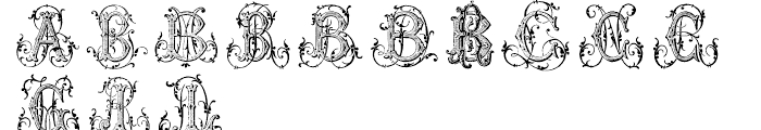 Just A Few Monograms Font LOWERCASE