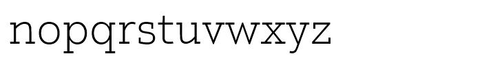Justus Pro Thin Font LOWERCASE