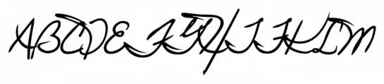 Juri Handwriting Regular Font UPPERCASE