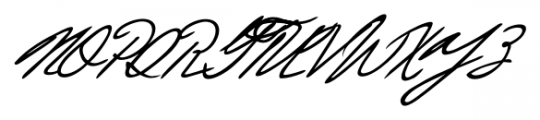 Justine Handwriting Regular Font UPPERCASE