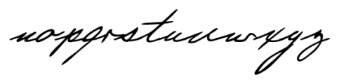 Justine Handwriting Regular Font LOWERCASE