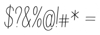 Juvenile Italic Font OTHER CHARS