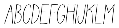 Juvenile Italic Font UPPERCASE