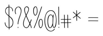Juvenile Regular Font OTHER CHARS