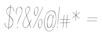Juvenile Thin Italic Font OTHER CHARS