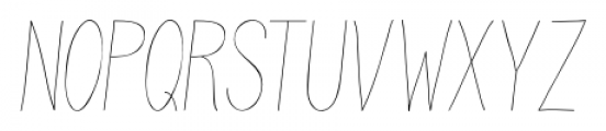 Juvenile Thin Italic Font UPPERCASE