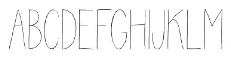 Juvenile Thin Font UPPERCASE