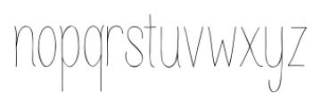 Juvenile Thin Font LOWERCASE