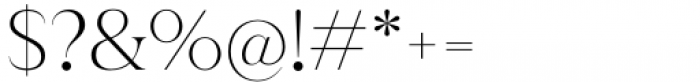 Juana Alt Thin Font OTHER CHARS
