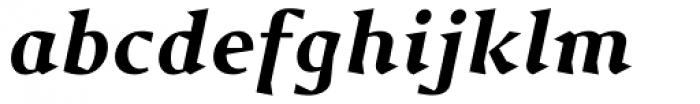 Jude Black Italic Font LOWERCASE