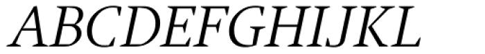 Jude Light Italic Font UPPERCASE