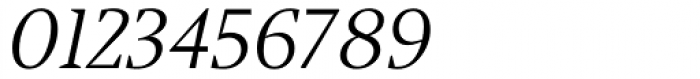 Jude Light Lining Numbers Italic Font OTHER CHARS