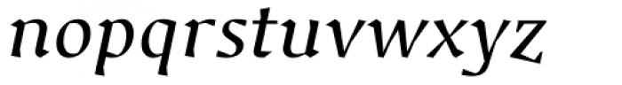 Jude Medium Italic Font LOWERCASE
