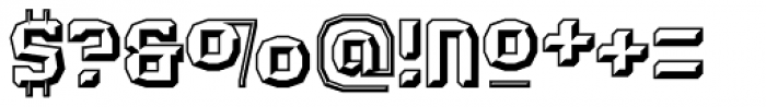 Judgement Black Embossed Font OTHER CHARS