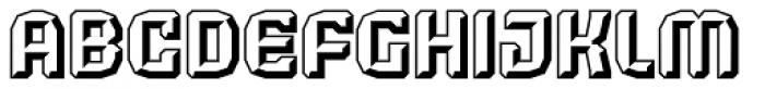 Judgement Black Embossed Font UPPERCASE