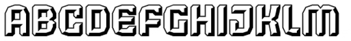 Judgement Black Embossed Font LOWERCASE