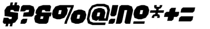 Judgement Black Italic Font OTHER CHARS