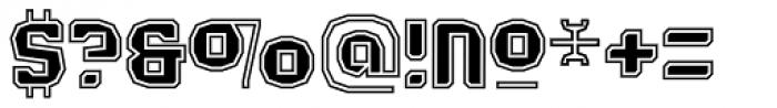 Judgement Black Rimmed Font OTHER CHARS