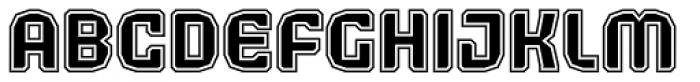Judgement Black Rimmed Font UPPERCASE