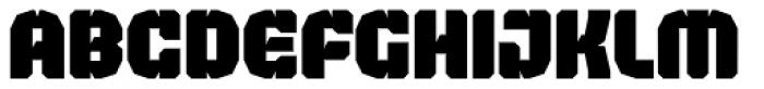 Judgement Black Stencil Font LOWERCASE