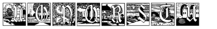 Jugendstil Initials Font UPPERCASE