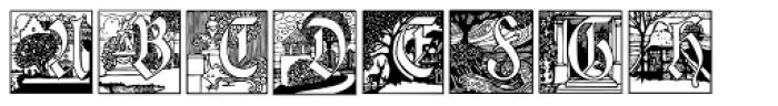 Jugendstil Initials Font LOWERCASE