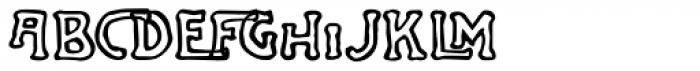 Jugenstil Kunsthand Font LOWERCASE
