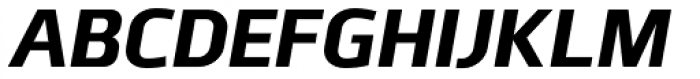 Juhl ExtraBold Italic Font UPPERCASE
