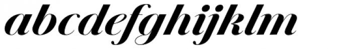 Jules Big Black Italic Font LOWERCASE