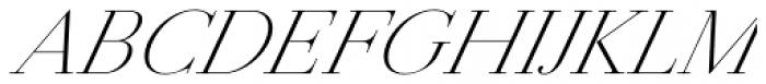 Jules Big Light Italic Font UPPERCASE