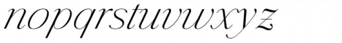Jules Big Light Italic Font LOWERCASE