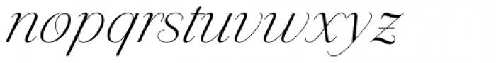 Jules Big Light Swashes Font LOWERCASE