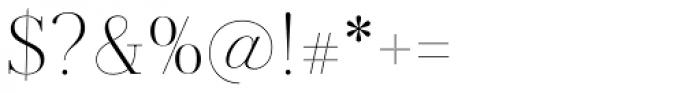 Jules Big Light Font OTHER CHARS