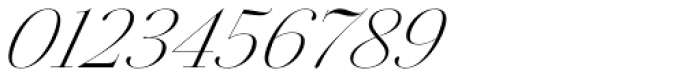 Jules Colossal Light Italic Font OTHER CHARS
