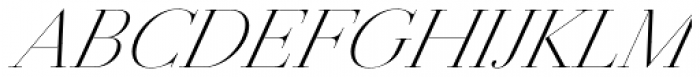 Jules Colossal Light Italic Font UPPERCASE