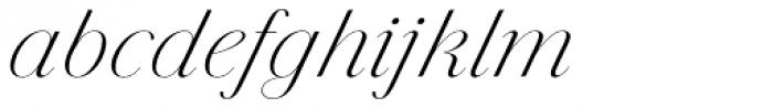 Jules Colossal Light Italic Font LOWERCASE