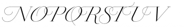 Jules Colossal Light Swashes Font UPPERCASE