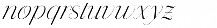 Jules Colossal Light Swashes Font LOWERCASE