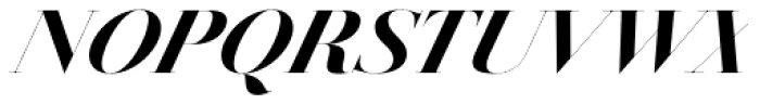 Jules Epic Black Italic Font UPPERCASE