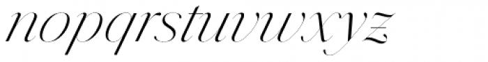 Jules Epic Light Italic Font LOWERCASE