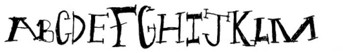 Julia Spiky Font UPPERCASE