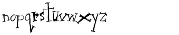 Julia Spiky Font LOWERCASE